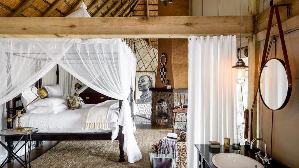 Singita Ebony Lodge i Sabi Sand i Sydafrika.