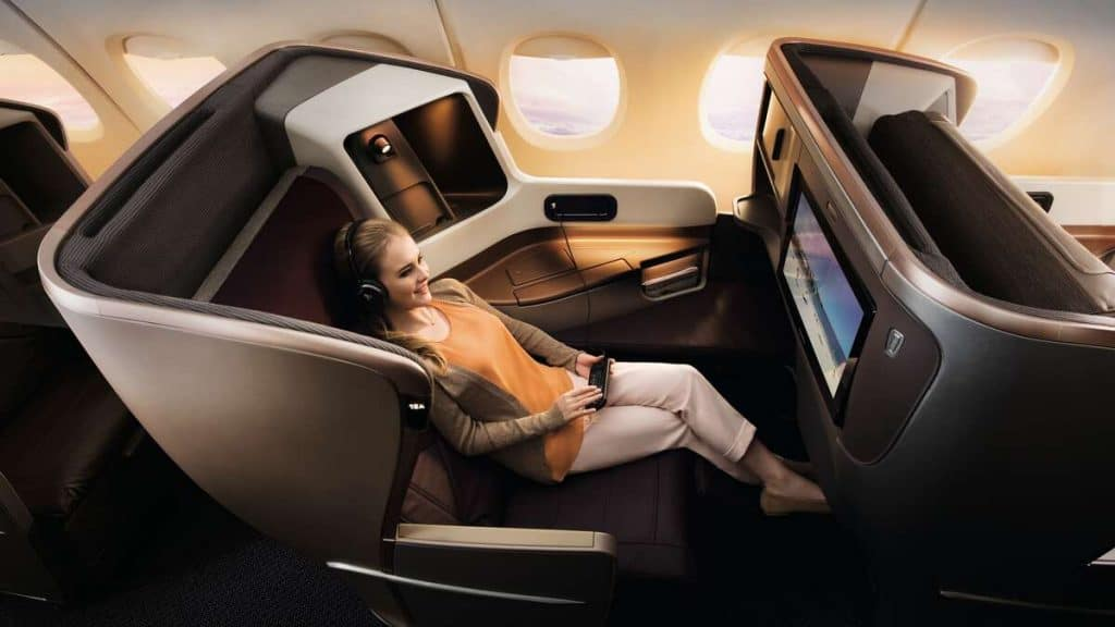 Singapore Airlines prisbelönta Business Class