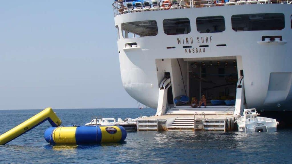 Vattensportsplattformen på Wind Surf.