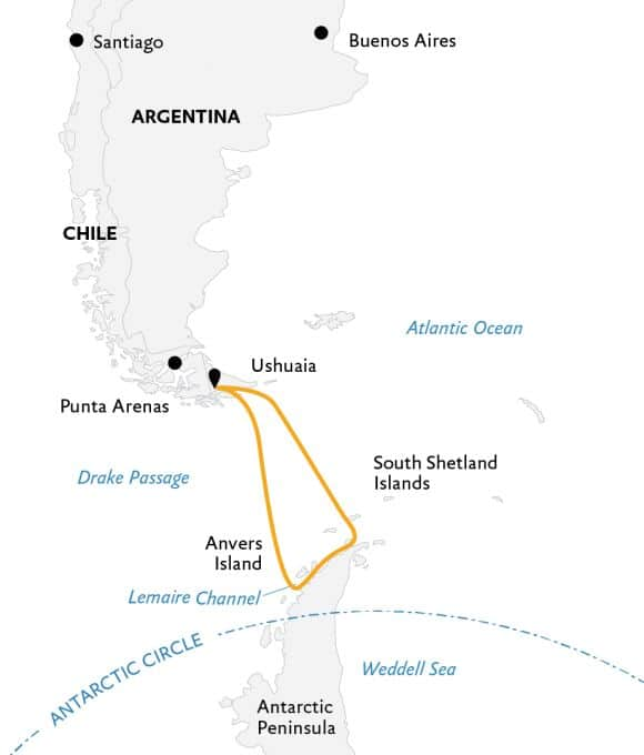 Antarctic Explorer karta.