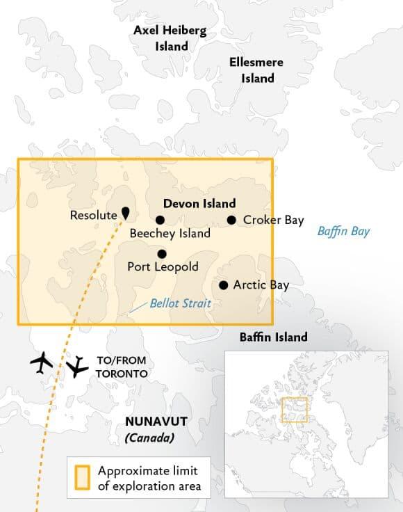 Arctic Express karta.