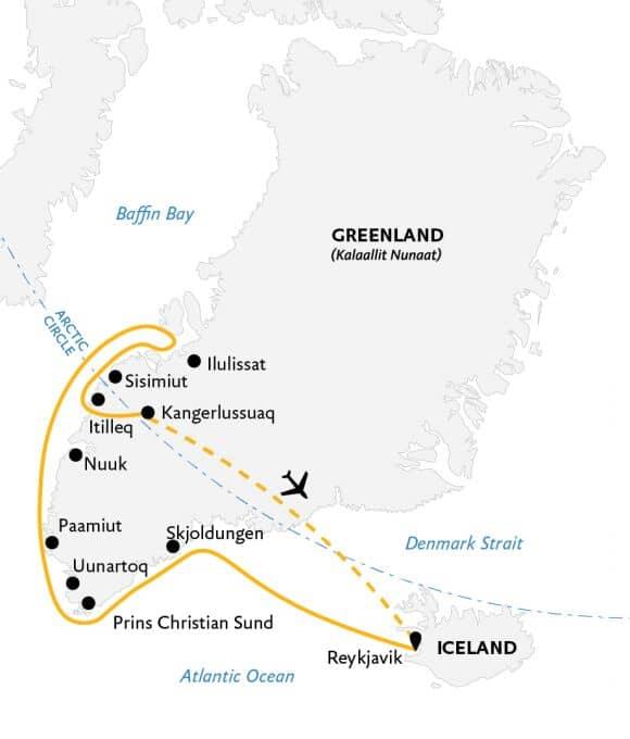 Essential Greenland karta.