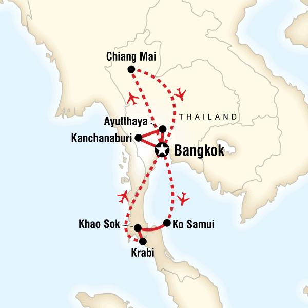 Utforska Thailand