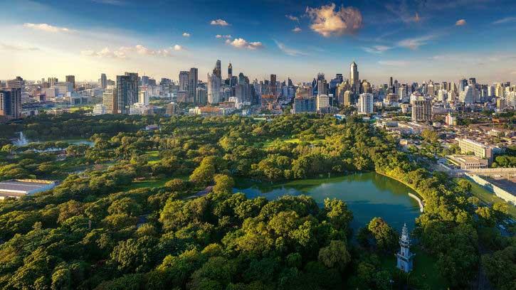 Lumpini Park i Bangkok.