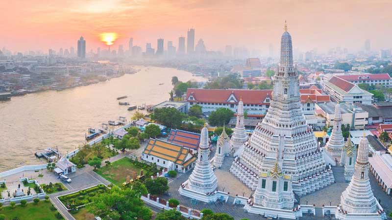 Wat Arun i Bangkok.