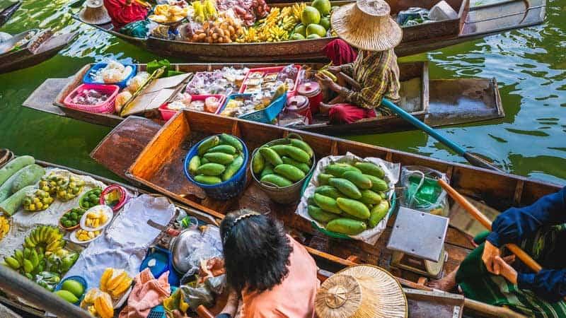 Floating Market i Bangkok.