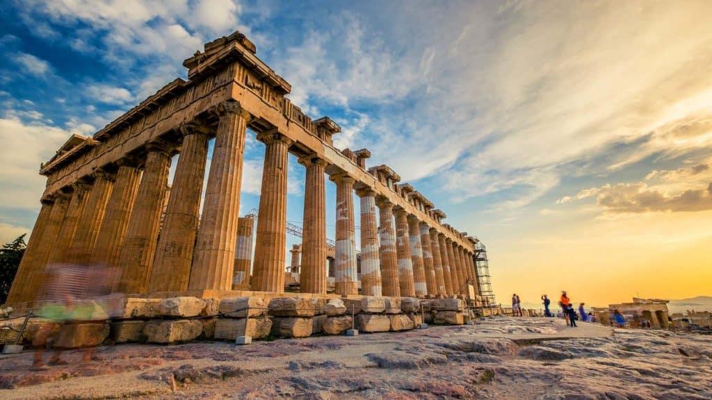 Akropolis i Aten.